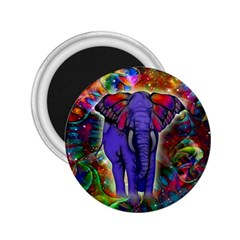 Abstract Elephant With Butterfly Ears Colorful Galaxy 2 25  Magnets