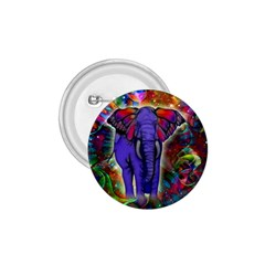 Abstract Elephant With Butterfly Ears Colorful Galaxy 1 75  Buttons