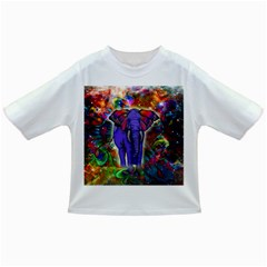 Abstract Elephant With Butterfly Ears Colorful Galaxy Infant/toddler T Shirts