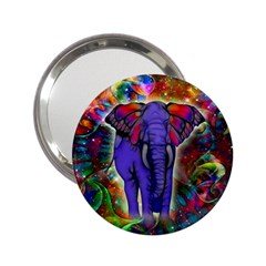 Abstract Elephant With Butterfly Ears Colorful Galaxy 2 25  Handbag Mirrors