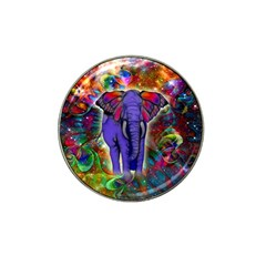 Abstract Elephant With Butterfly Ears Colorful Galaxy Hat Clip Ball Marker (4 Pack)