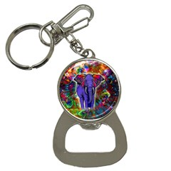 Abstract Elephant With Butterfly Ears Colorful Galaxy Button Necklaces