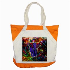 Abstract Elephant With Butterfly Ears Colorful Galaxy Accent Tote Bag by EDDArt