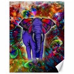 Abstract Elephant With Butterfly Ears Colorful Galaxy Canvas 18  X 24