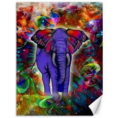 Abstract Elephant With Butterfly Ears Colorful Galaxy Canvas 36  X 48