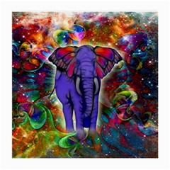 Abstract Elephant With Butterfly Ears Colorful Galaxy Medium Glasses Cloth (2 Side)
