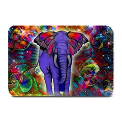 Abstract Elephant With Butterfly Ears Colorful Galaxy Plate Mats