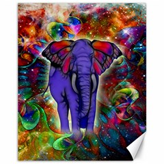 Abstract Elephant With Butterfly Ears Colorful Galaxy Canvas 11  X 14