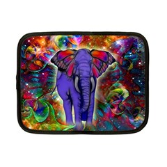 Abstract Elephant With Butterfly Ears Colorful Galaxy Netbook Case (small)  by EDDArt