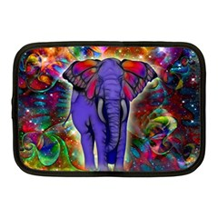 Abstract Elephant With Butterfly Ears Colorful Galaxy Netbook Case (medium)