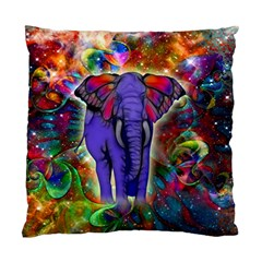 Abstract Elephant With Butterfly Ears Colorful Galaxy Standard Cushion Case (two Sides)