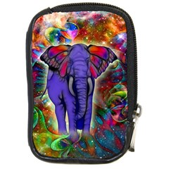 Abstract Elephant With Butterfly Ears Colorful Galaxy Compact Camera Cases by EDDArt