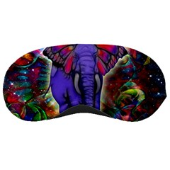 Abstract Elephant With Butterfly Ears Colorful Galaxy Sleeping Masks
