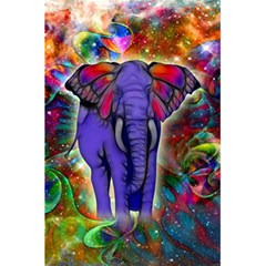 Abstract Elephant With Butterfly Ears Colorful Galaxy 5 5  X 8 5  Notebooks