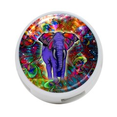 Abstract Elephant With Butterfly Ears Colorful Galaxy 4 Port Usb Hub (one Side) by EDDArt