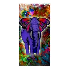Abstract Elephant With Butterfly Ears Colorful Galaxy Shower Curtain 36  X 72  (stall)