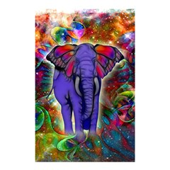 Abstract Elephant With Butterfly Ears Colorful Galaxy Shower Curtain 48  X 72  (small)