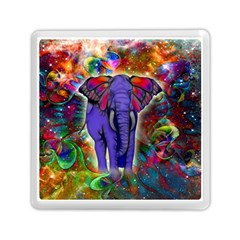 Abstract Elephant With Butterfly Ears Colorful Galaxy Memory Card Reader (square)