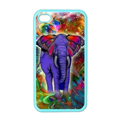 Abstract Elephant With Butterfly Ears Colorful Galaxy Apple Iphone 4 Case (color)
