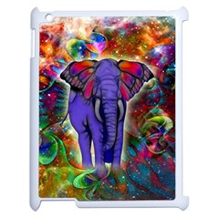 Abstract Elephant With Butterfly Ears Colorful Galaxy Apple Ipad 2 Case (white)