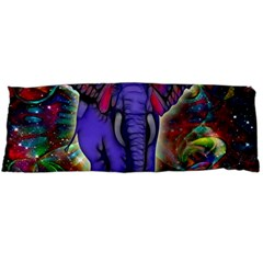 Abstract Elephant With Butterfly Ears Colorful Galaxy Body Pillow Case Dakimakura (two Sides)