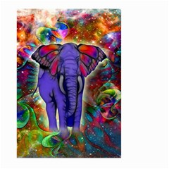 Abstract Elephant With Butterfly Ears Colorful Galaxy Large Garden Flag (two Sides)