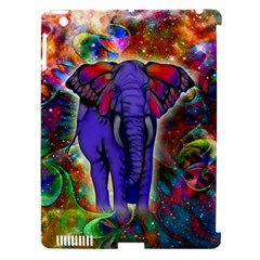 Abstract Elephant With Butterfly Ears Colorful Galaxy Apple Ipad 3/4 Hardshell Case (compatible With Smart Cover) by EDDArt