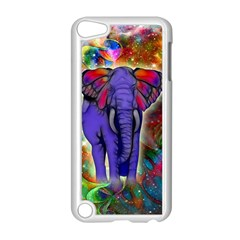 Abstract Elephant With Butterfly Ears Colorful Galaxy Apple Ipod Touch 5 Case (white) by EDDArt