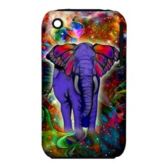 Abstract Elephant With Butterfly Ears Colorful Galaxy Iphone 3s/3gs