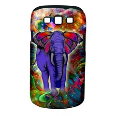 Abstract Elephant With Butterfly Ears Colorful Galaxy Samsung Galaxy S Iii Classic Hardshell Case (pc+silicone)