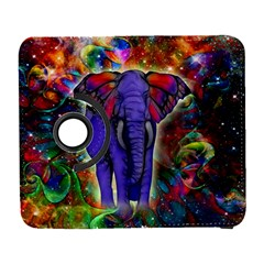 Abstract Elephant With Butterfly Ears Colorful Galaxy Galaxy S3 (flip/folio)