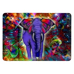 Abstract Elephant With Butterfly Ears Colorful Galaxy Samsung Galaxy Tab 8 9  P7300 Flip Case
