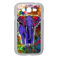 Abstract Elephant With Butterfly Ears Colorful Galaxy Samsung Galaxy Grand Duos I9082 Case (white)