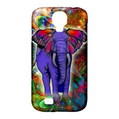 Abstract Elephant With Butterfly Ears Colorful Galaxy Samsung Galaxy S4 Classic Hardshell Case (pc+silicone)