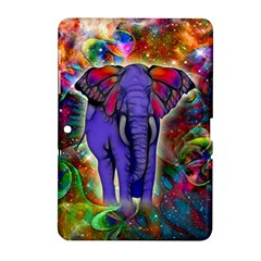 Abstract Elephant With Butterfly Ears Colorful Galaxy Samsung Galaxy Tab 2 (10 1 ) P5100 Hardshell Case  by EDDArt