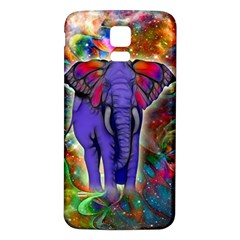 Abstract Elephant With Butterfly Ears Colorful Galaxy Samsung Galaxy S5 Back Case (white)