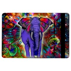 Abstract Elephant With Butterfly Ears Colorful Galaxy Ipad Air 2 Flip