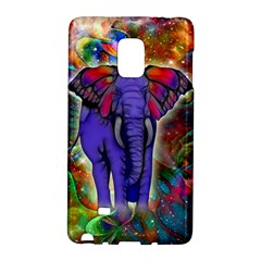 Abstract Elephant With Butterfly Ears Colorful Galaxy Galaxy Note Edge
