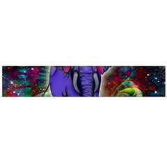 Abstract Elephant With Butterfly Ears Colorful Galaxy Flano Scarf (large) by EDDArt