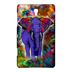 Abstract Elephant With Butterfly Ears Colorful Galaxy Samsung Galaxy Tab S (8 4 ) Hardshell Case
