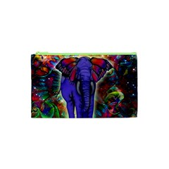 Abstract Elephant With Butterfly Ears Colorful Galaxy Cosmetic Bag (xs)