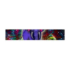 Abstract Elephant With Butterfly Ears Colorful Galaxy Flano Scarf (mini)