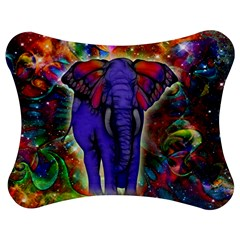 Abstract Elephant With Butterfly Ears Colorful Galaxy Jigsaw Puzzle Photo Stand (bow) by EDDArt