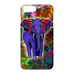 Abstract Elephant With Butterfly Ears Colorful Galaxy Apple Iphone 7 Plus Hardshell Case