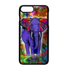 Abstract Elephant With Butterfly Ears Colorful Galaxy Apple Iphone 7 Plus Seamless Case (black)