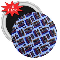 Abstract Pattern Seamless Artwork 3  Magnets (10 Pack)  by Amaryn4rt