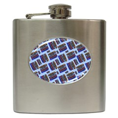 Abstract Pattern Seamless Artwork Hip Flask (6 Oz) by Amaryn4rt