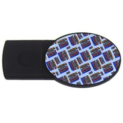 Abstract Pattern Seamless Artwork Usb Flash Drive Oval (4 Gb) by Amaryn4rt