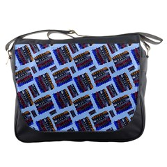 Abstract Pattern Seamless Artwork Messenger Bags by Amaryn4rt