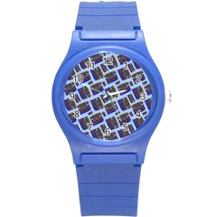 Abstract Pattern Seamless Artwork Round Plastic Sport Watch (s) by Amaryn4rt